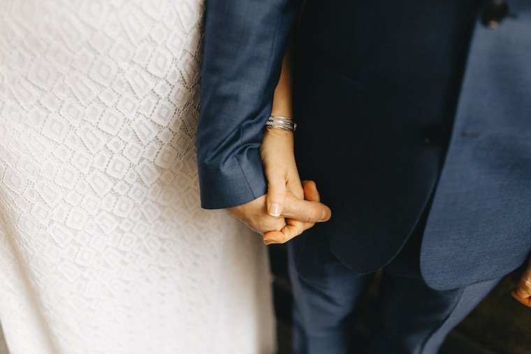 Bride & groom's hands
