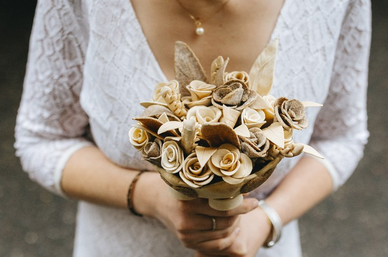 Bridal bouquet made of bread by Poilâne