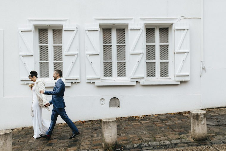 Bride & groom in Montmartre