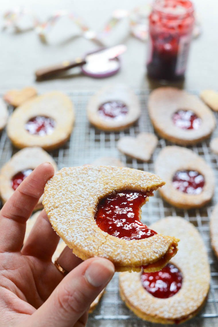 Easter Egg Jam Cookies