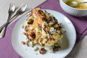 Roasted Cauliflower with Blue Cheese and Caramelized Walnuts
