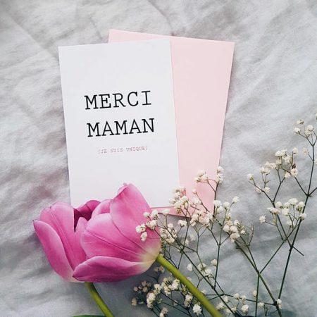 Merci Maman card
