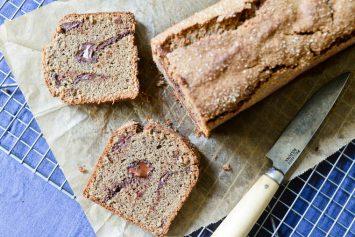 Chocolate Buckwheat Pound Cake