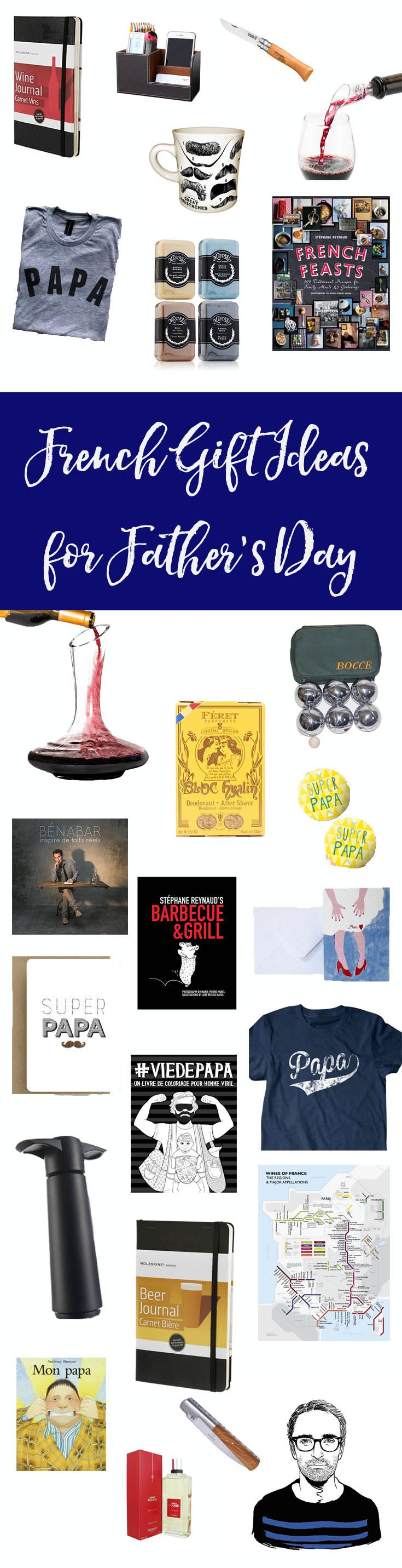 French Gift Ideas for Father's Day : Does your Papa love all things French? This Father's Day, treat him to one of my French Father's Day Gift Ideas!