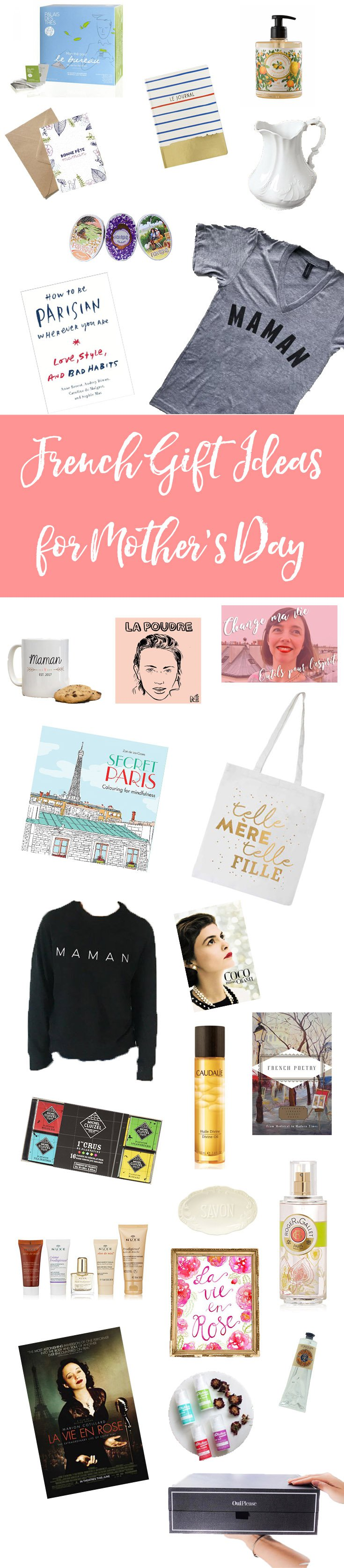 French Mother's Day Gift Ideas: Does your mom love all things French? This Mother's Day, pamper her inner Parisienne with one of my French Mother's Day Gift Ideas!
