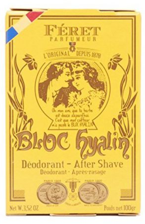 deodorant and after-shave alum block