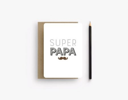 Super papa fathers day card