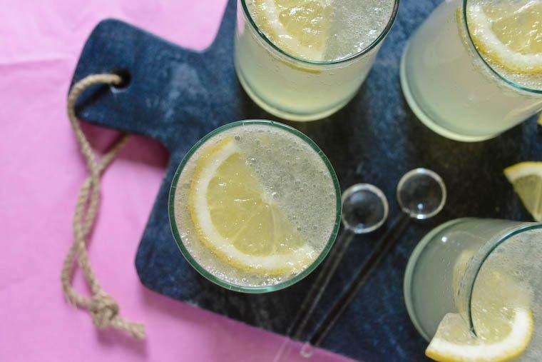 Sparkling Honey Ginger Lemonade