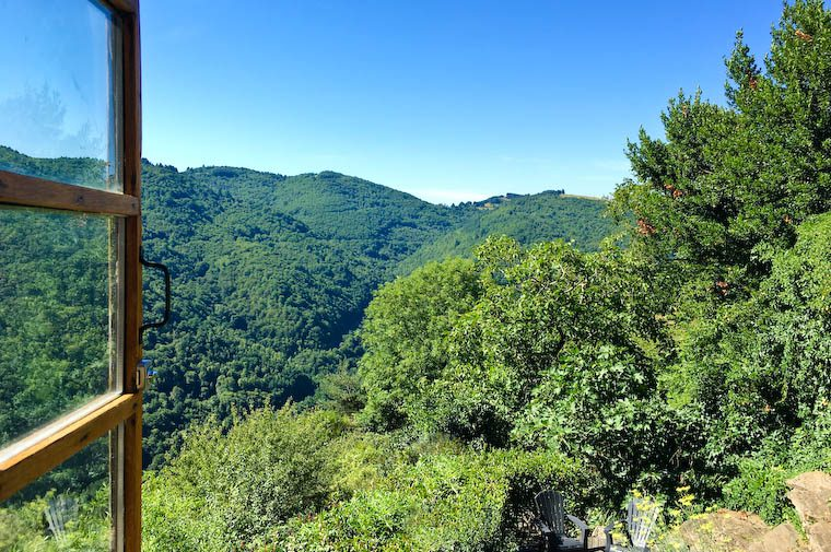 The view from our house in Aveyron