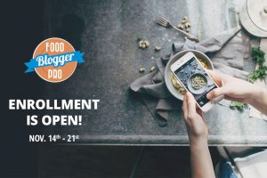 Food Blogger Pro Enrolment