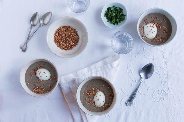 Mushroom Buckwheat Soup