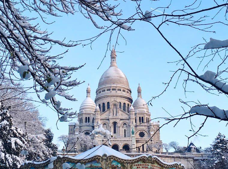 Sacré-Coeur in the Snow