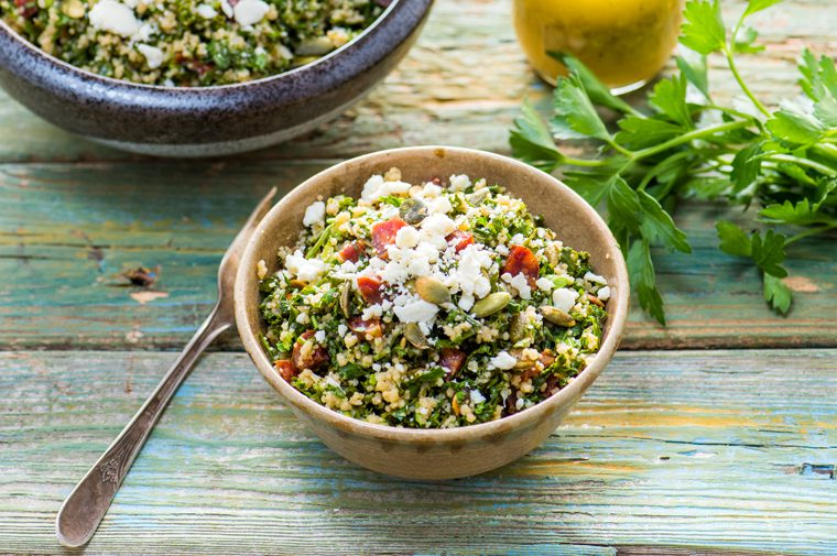 Kale, Cilantro, and Chorizo Tabbouleh Recipe