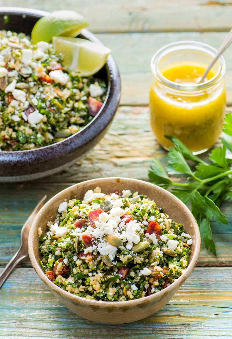 Kale, Cilantro, and Chorizo Tabbouleh