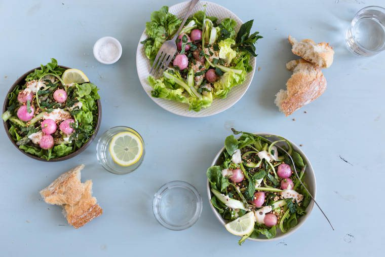 Otium Salad with Roasted Radishes and Shaved Asparagus Recipe